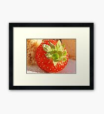 Strawberries and Cake Framed Print