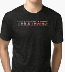TrickTrades - USA Tri-blend T-Shirt