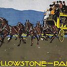 Yellowstone Park Ad, 1910 by Ludwig Hohlwein by edsimoneit