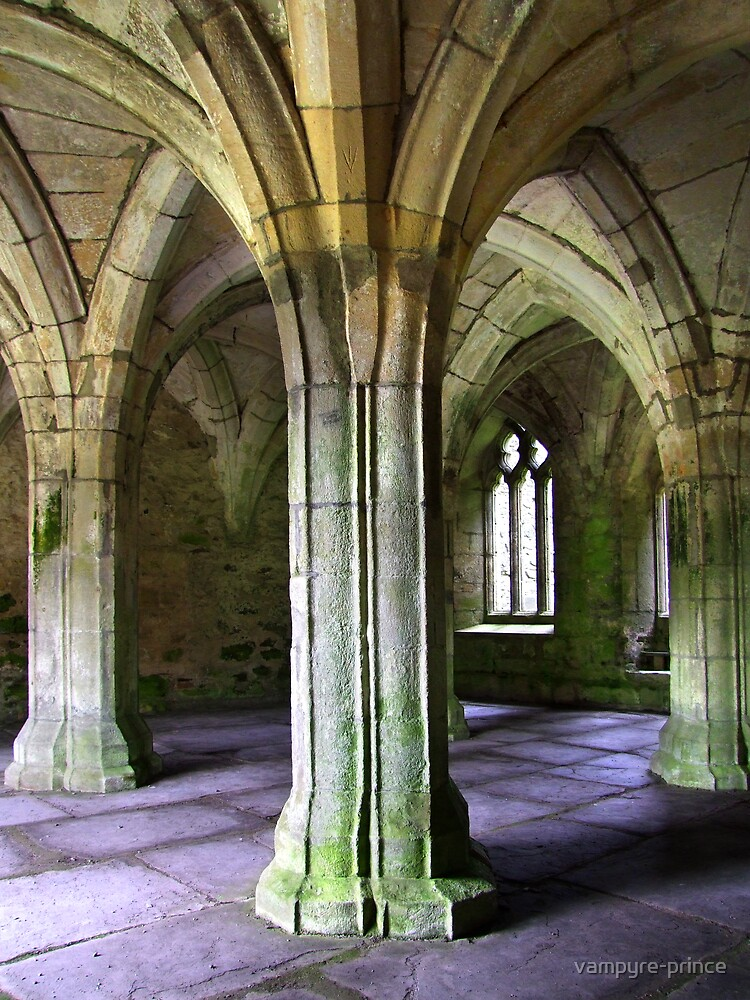 Valle Crucis Abbey  by vampyre-prince