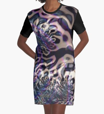 Panther Stripes Graphic T-Shirt Dress