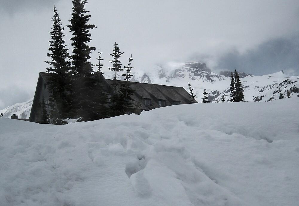 The Lodge, On Mt. Rainier by Jess Mo