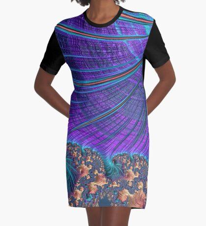 Rolling Sea Graphic T-Shirt Dress