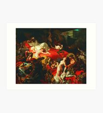 Ferdinand Victor Eugene Delacroix - The Death of Sardanapalus ⛔ HQ quality Art Print