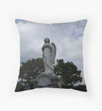 Solitary Angel Throw Pillow