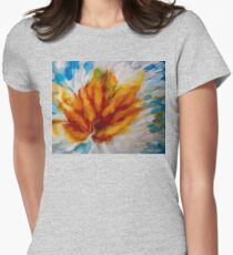 Flower Explosion Abstract Women's Fitted T-Shirt