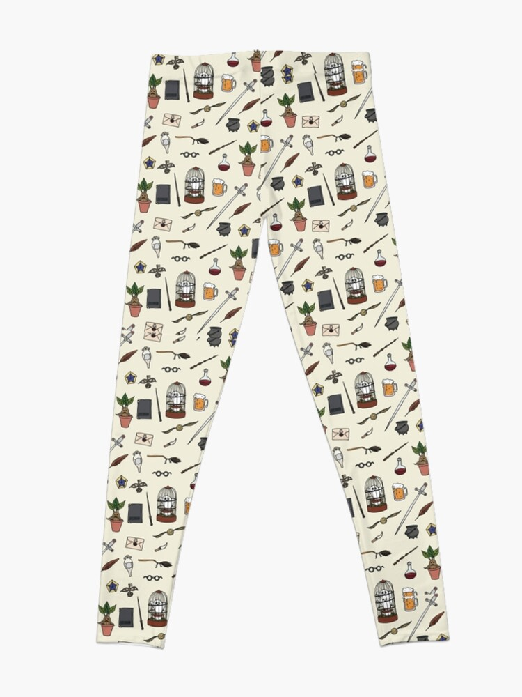 Alternate view of Owl and wand Leggings