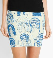 Babes & Bouffants Blue Mini Skirt