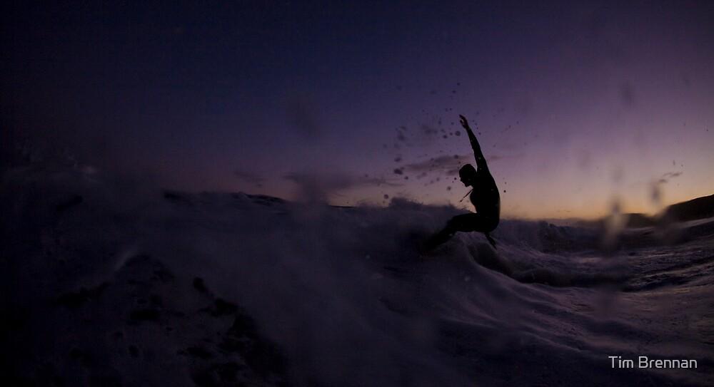 twilight skimming by Tim Brennan