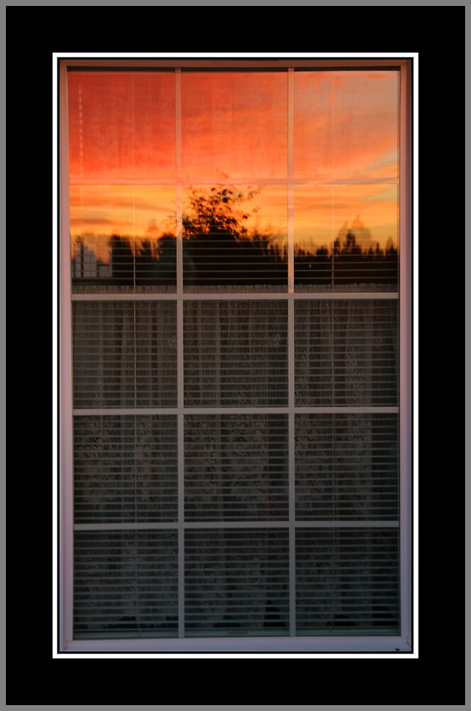 Reflected Sunset by David F Putnam