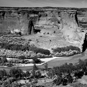 Water in Canyon De Chelly ~ Black & White by GVAZDesigns