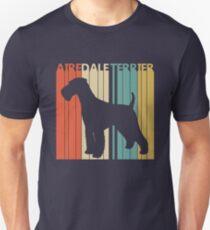 Vintage Retro Airedale Terrier Dog Unisex T-Shirt