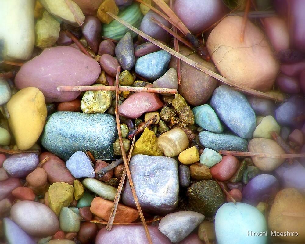 Montana Rainbow pebbles  by Hiroshi  Maeshiro