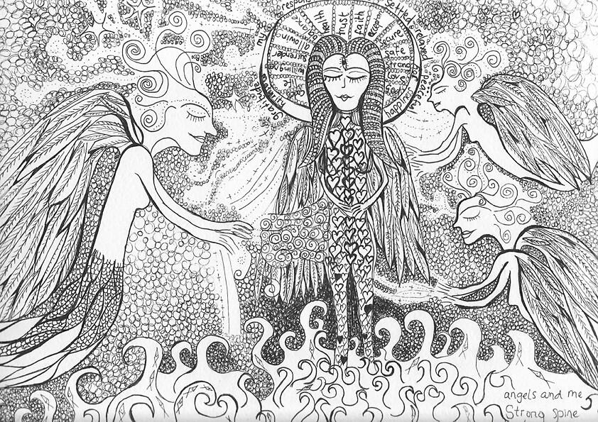 Angels & Me by blissabhilasha