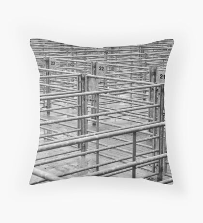 Penned In Throw Pillow