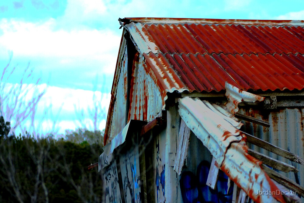 The red roofed tin shed by JordanDecker
