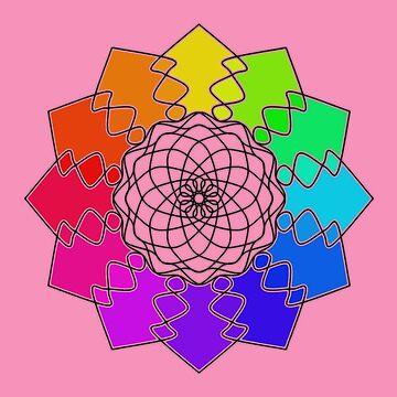 Rainbow Color Wheel by silverdragon