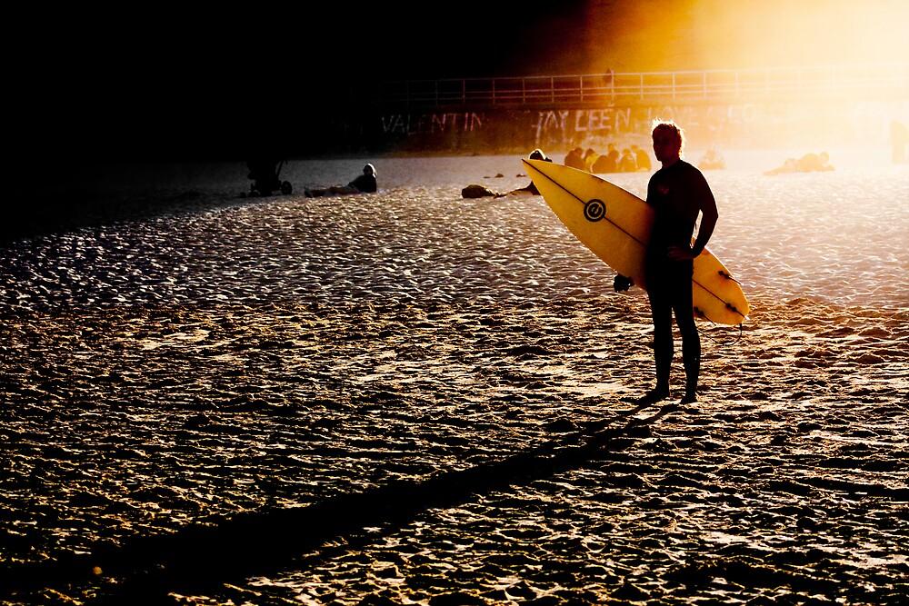 Sunset surfer by bondiphoto