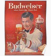 Budweiser Vintage Print Poster