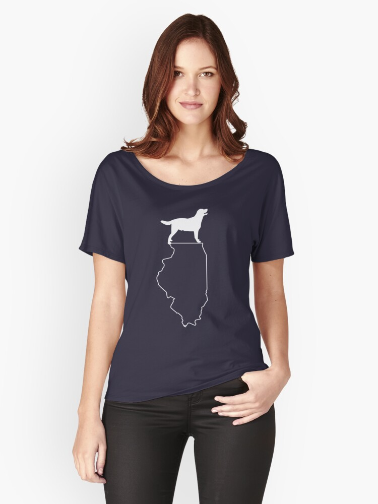Lab Illinois Labrador Retriever Dog T Shirt Women's Relaxed Fit T-Shirt Front