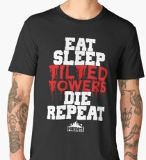 Eat Sleep Tilted Towers v3 Men's Premium T-Shirt