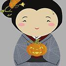 Kokeshi Halloween by thedustyphoenix