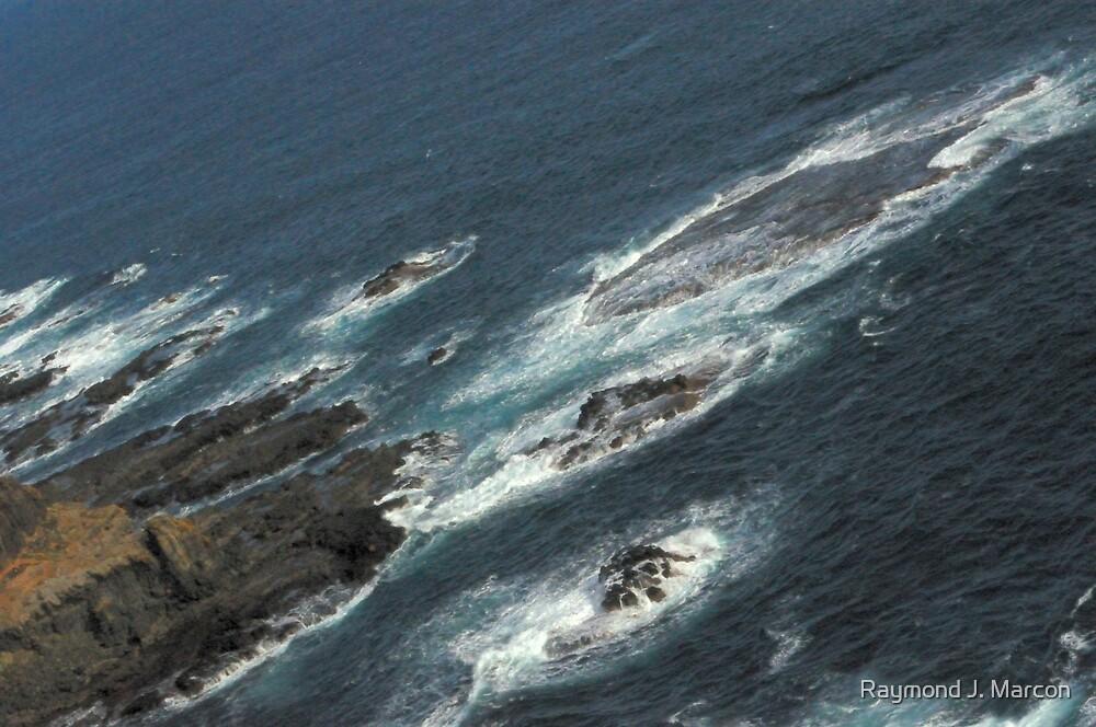 Rocky Shore ( diagonal). by Raymond J. Marcon