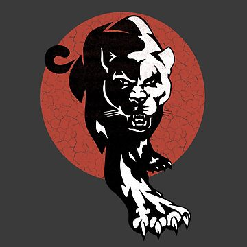 Stunning Red Sun with Stalking Wild Cat Gifts nad Apparel by manbird