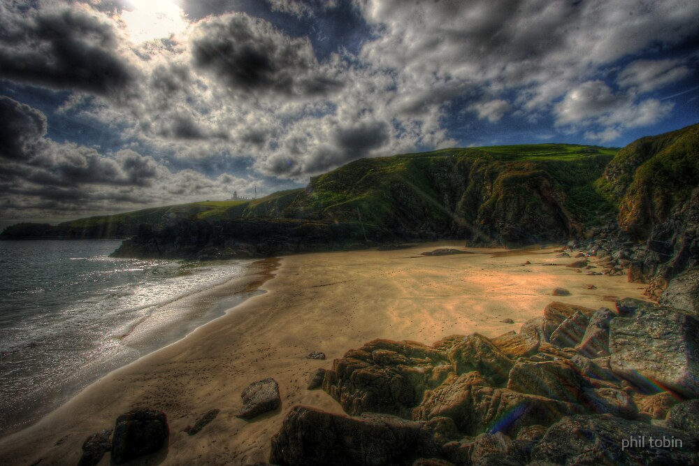 Housen cove from the cliffs. by phil tobin