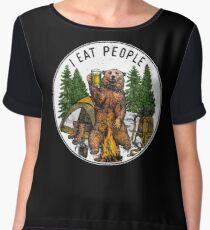 Camping I Eat People I Hate People T-Shirt Chiffon Top