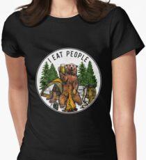 Camiseta entallada para mujer Camping I Eat People I Hate People Camiseta