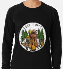 Camping I Eat People I Hate People T-Shirt Lightweight Sweatshirt