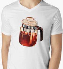 Coffee Percolator Pattern Men's V-Neck T-Shirt