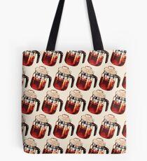 Coffee Percolator Pattern Tote Bag