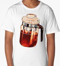 Coffee Percolator Pattern Long T-Shirt