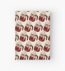 Coffee Percolator Pattern Hardcover Journal