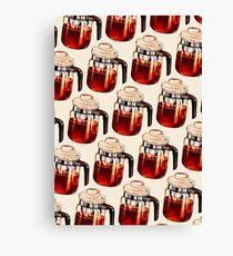 Coffee Percolator Pattern Canvas Print