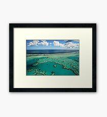 Heart Reef, Great Barrier Reef, Whitsundays Framed Print