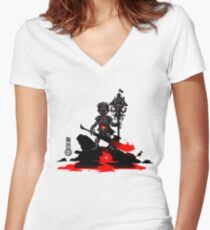 The Game of Kings, Wave Seven: The Black King's Pawn Women's Fitted V-Neck T-Shirt