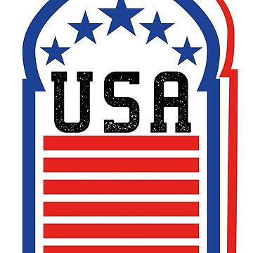 USA T Shirt, America T Shirt, United States by Yedesign