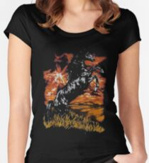 the horse art Women's Fitted Scoop T-Shirt