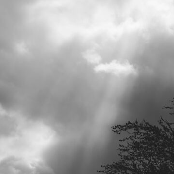 Dramatic Sunbeams #blackwhite by andreaanderegg