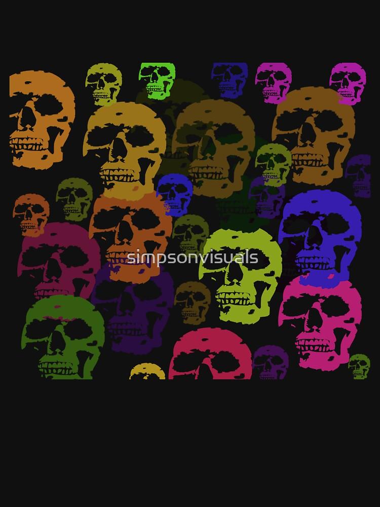 Skull Parade T-Shirt by simpsonvisuals