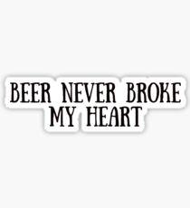 Beer Never Broke My Heart - Luke Combs  Sticker