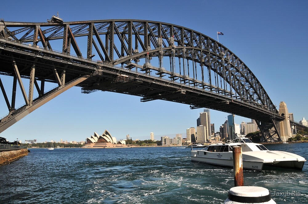 Sydney Harbour Bridge & Opera House by Jaxybelle