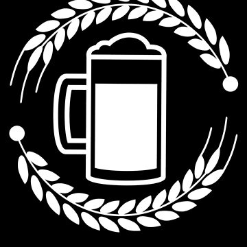 Glass Of Beer Simple Design by mrkprints