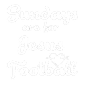 Sunday Are For Jesus Football by AYmanee