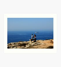 Love In The Time Of Catholicism, Malta. Art Print