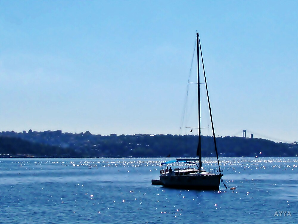 sailboat in Beykoz by AYYA