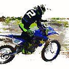 Revelstoke Motocross Sports Art by Skye Ryan-Evans